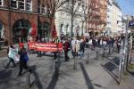 Demonstration gegen die Busbeschleunigung auf der Langen Reihe