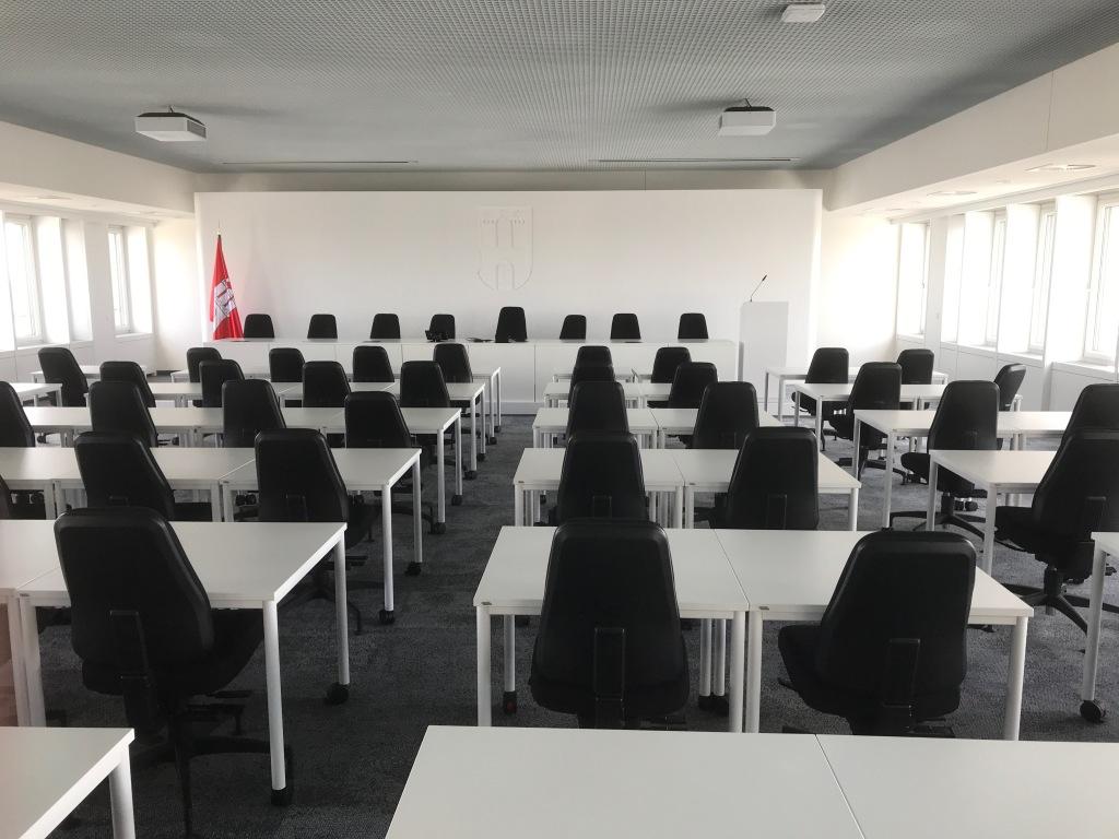 Sitzungssaal der Bezirksversammlung Hamburg-Mitte